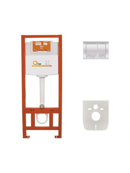 Инсталляция для унитаза Q-tap Nest комплект 4 в 1 с панелью смыва PL M06CRM