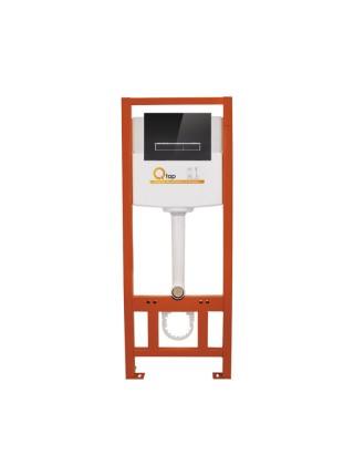 Инсталляция для унитаза Q-tap Nest комплект 4 в 1 с панелью смыва PL M08GLBLA