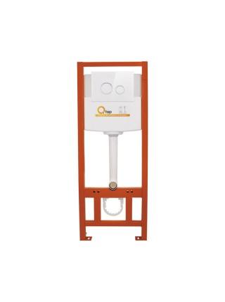 Инсталляция для унитаза Q-tap Nest комплект 4 в 1 с панелью смыва PL M11GLWHI