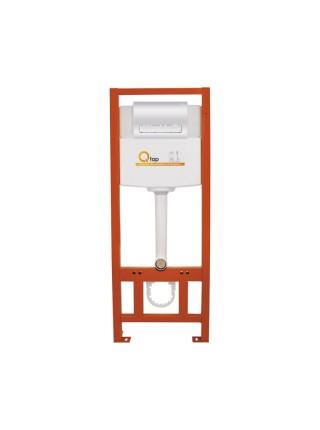 Инсталляция для унитаза Q-tap Nest комплект 4 в 1 с панелью смыва PL M08CRM