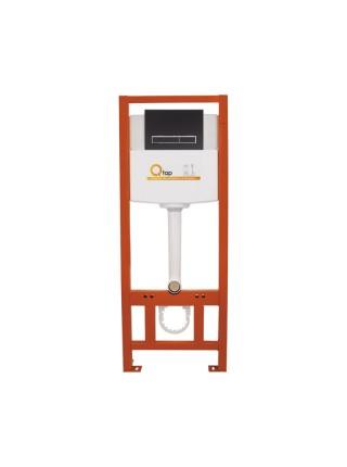 Инсталляция для унитаза Q-tap Nest комплект 4 в 1 с панелью смыва PL M08MBLA