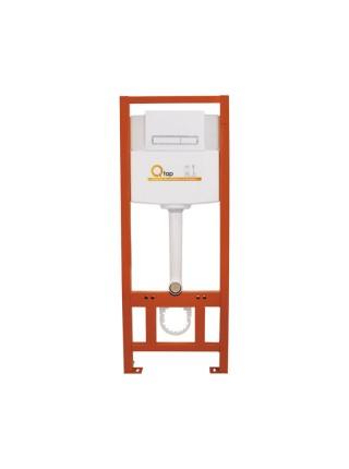 Инсталляция для унитаза Q-tap Nest комплект 4 в 1 с панелью смыва PL M08WHI