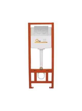 Инсталляция для унитаза Q-tap Nest комплект 4 в 1 с панелью смыва PL M11SAT