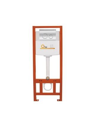 Инсталляция для унитаза Q-tap Nest комплект 4 в 1 с панелью смыва PL M11CRM