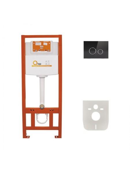 Инсталляция для унитаза Q-tap Nest комплект 4 в 1 с панелью смыва PL M11GLBLA