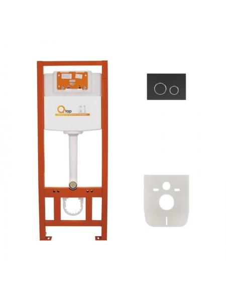 Инсталляция для унитаза Q-tap Nest M425 ST комплект 4 в 1 с панелью смыва PL M11MBLA