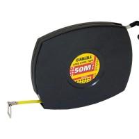 Рулетка стальная лента 50м, 10мм (черная), Sigma 3816501