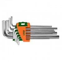 Ключи шестигранные 9шт 1.5-10мм CrV (средние), Grad Sigma 4022085