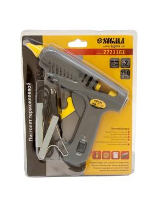 Пистолет термоклеевой с выключателем 11.2мм 250Вт, Sigma 2721161