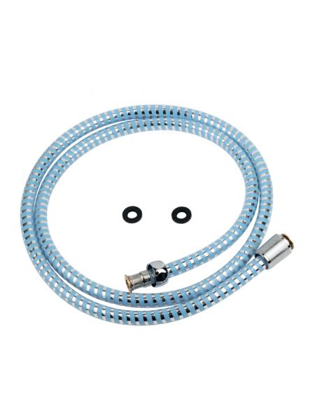 """Шланг для душа 1/2"""" PVC 2-х слойный синий 150см TAU XB-1483 (9891671)"""