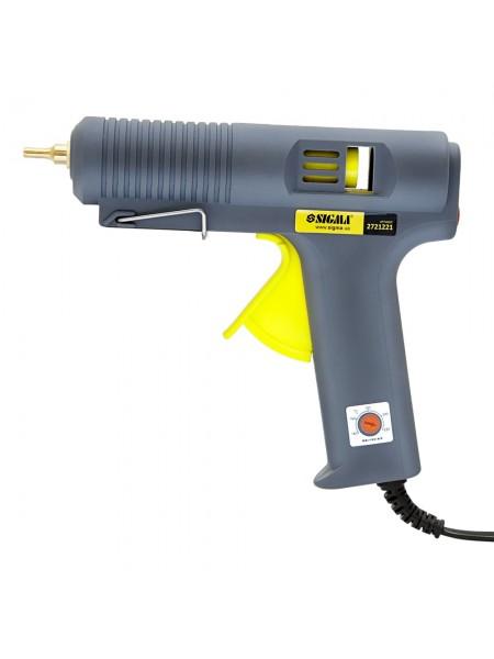 Пистолет термоклеевой с регул.температуры 140-220C 11.2мм 500Вт, Sigma 2721221