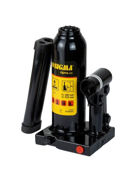 Домкрат гидравлический бутылочный 2т h181-345мм, Sigma 6101021