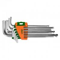 Ключи шестигранные 9шт 1.5-10мм CrV (средние шар), Grad Sigma 4022185