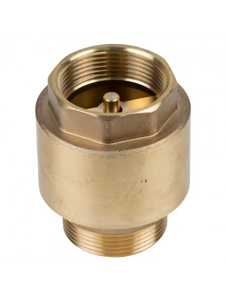 """Клапан обратный M1 1/2""""xF1 1/2"""" (латунь) euro 680г AQUATICA (779659)"""