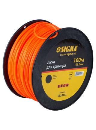 Леска для триммера круг d3.0мм 160м катушка Sigma 5618411
