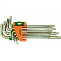 Ключи TORX 9шт T10-T50мм CrV (средние с отвер), Grad Sigma 4022285