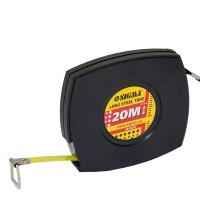 Рулетка стальная лента 20м, 10мм (черная), Sigma 3816201