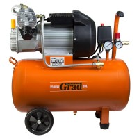 Компрессор двухцилиндровый 2,5кВт 435л/мин 8бар 50л (2 крана) Grad Sigma 7043945