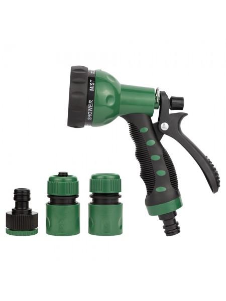 Набор для полива: пистолет распылитель 7-ми режимный 2 коннектора+адаптер (ABS+TPR) Grad (5012505)