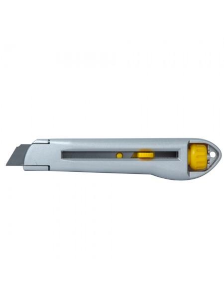 Нож строительный (металлический корпус) лезвие 18мм винтовой замок Sigma (8211011)