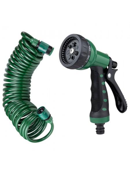 Набор поливочный: шланг спиральный 7,5м + пистолет распылитель 7-ми режимный Grad (5019065)