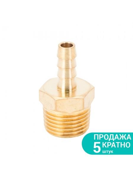 """Штуцер для шланга с наружным резьбовым соединением 8мм 1/2"""" (латунь) Sigma (7023631)"""