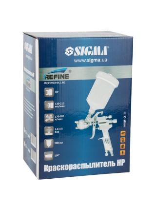 Краскораспылитель HP Ø1.6мм 170-285л/мин 3-3.5бар в/б 500мл (пласт) Refine (6811421)