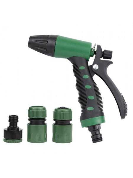 Набор для полива: пистолет распылитель 2-х режимный 2 коннектора+адаптер Grad (5012485)
