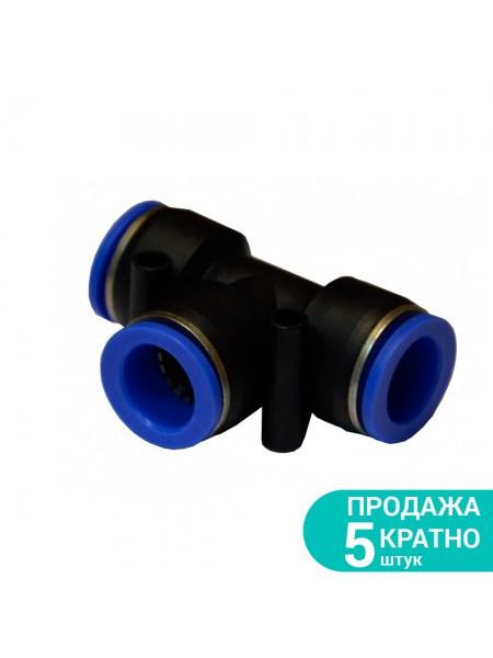 Соединение цанговое (T-образное) Ø12*12*12мм Sigma (7026271)