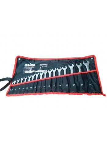 Набор ключей комбинированых в тканевом чехле 17шт (6-24мм)  MIOL 51-716