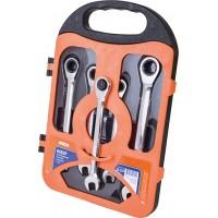 Набор ключей с трещоткой 5шт в кейсе, MIOL 52-250