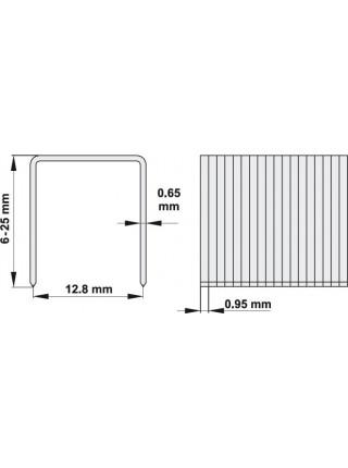 Скобы для пневмостеплера 25х12,8 мм Yato YT-0932