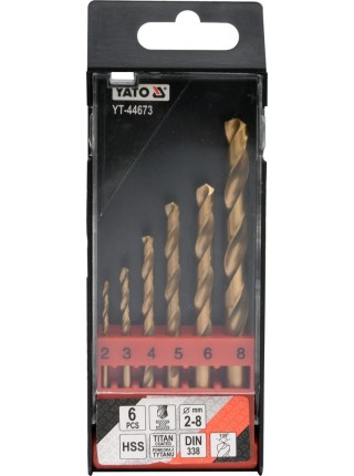 Набор свёрл по металлу 6 шт. Yato YT-44673
