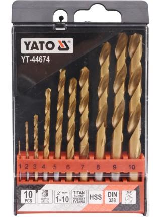 Набор свёрл по металлу 10 шт. Yato YT-44674