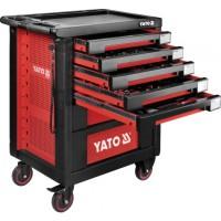 Инструментальная тележка на колёсах с выдвижными ящиками и 189 инструментом Yato YT-55292