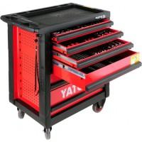 Передвижная сервисная тележка на колёсах со 177 инструментами Yato YT-5530